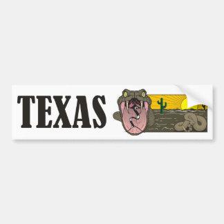 Adesivo De Para-choque Estado do Texas do cobra, EUA: Cascavel e deserto