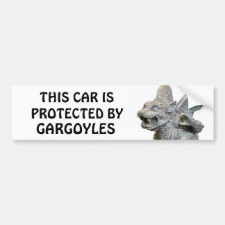 Adesivo De Para-choque Este carro protegido por gárgulas