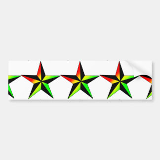 Adesivo De Para-choque Estrela de Rasta