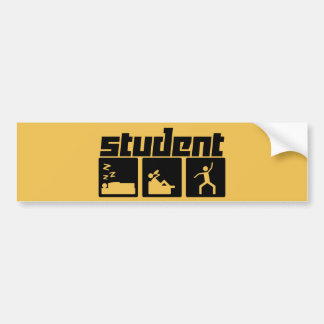 Adesivo De Para-choque Estudante