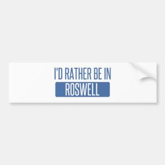 Adesivo De Para-choque Eu preferencialmente estaria em Roswell nanômetro