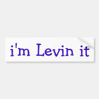 Adesivo De Para-choque eu sou Levin ele