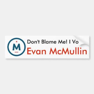 Adesivo De Para-choque Eu votei Evan McMullin! Autocolante no vidro