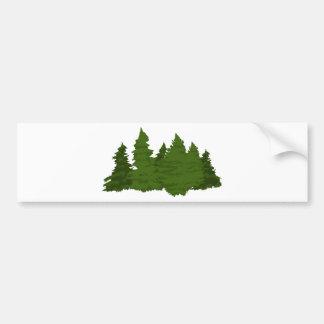 Adesivo De Para-choque Floresta do pinho