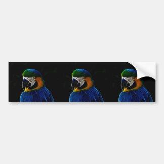 Adesivo De Para-choque Fractal azul do papagaio de Digitas