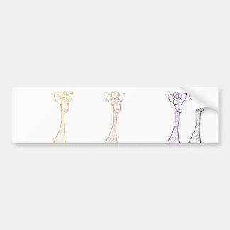 Adesivo De Para-choque Girafa simples