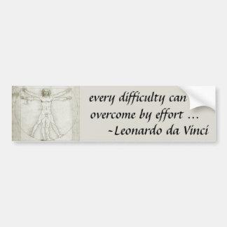 Adesivo De Para-choque Homem de Vitruvian por Leonardo da Vinci