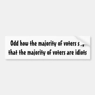 Adesivo De Para-choque Impar como a maioria dos eleitores diz…