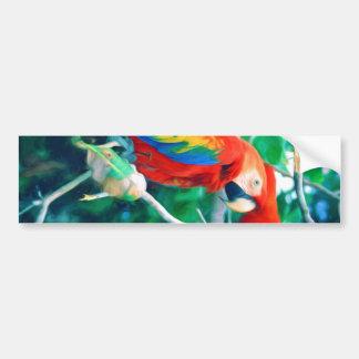 Adesivo De Para-choque Macaw colorido