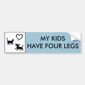 Adesivo De Para-choque Meus miúdos têm quatro pés