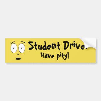 Adesivo De Para-choque Motorista do estudante
