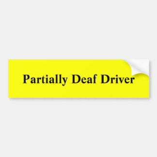 Adesivo De Para-choque Motorista parcialmente surdo