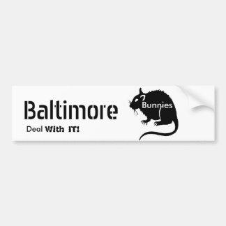 """Adesivo De Para-choque Negócio dos RATOS dos """"coelhos"""" de Baltimore com"""