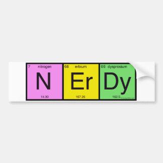 Adesivo De Para-choque Nerdy
