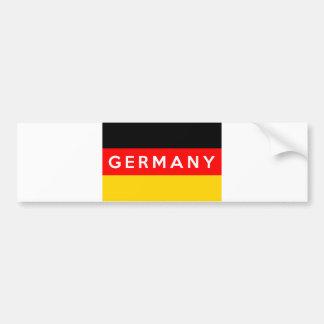 Adesivo De Para-choque nome do texto do país da bandeira de Alemanha