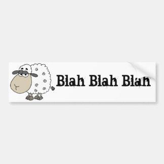 Adesivo De Para-choque O carneiro cínico engraçado diz blá - blá