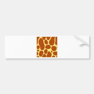 Adesivo De Para-choque o girafa mancha o teste padrão