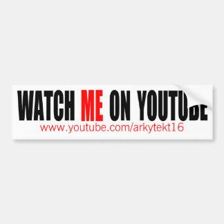 Adesivo De Para-choque Olhe-me em YouTube (moderno)