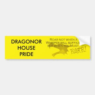Adesivo De Para-choque Orgulho Bumpersticker da casa de Dragonor com