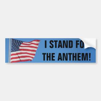 Adesivo De Para-choque Os EUA embandeiram-me representam o hino nacional