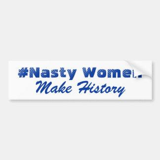 Adesivo De Para-choque Os #NastyWomen fazem a história