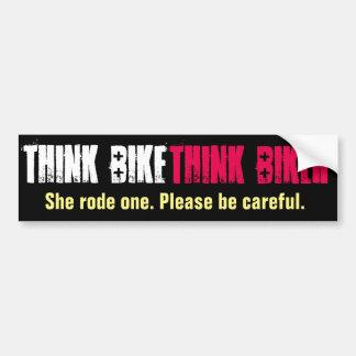 Adesivo De Para-choque Pense a bicicleta que montou