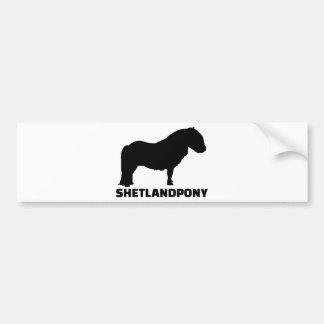 Adesivo De Para-choque Pônei de Shetland