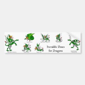 Adesivo De Para-choque Poses heráldicas para dragões