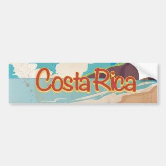 Adesivo De Para-choque Poster das viagens vintage de Costa Rica