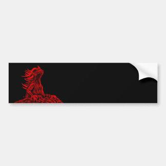 Adesivo De Para-choque Pouco dragão vermelho