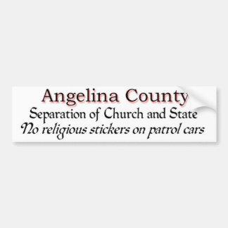 Adesivo De Para-choque Protesto de Angelina County