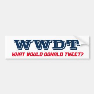 Adesivo De Para-choque Que Tweet de Donald? (bumpersticker)
