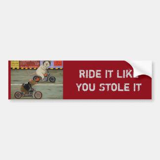 Adesivo De Para-choque Raça da motocicleta da competição desenfreada 3