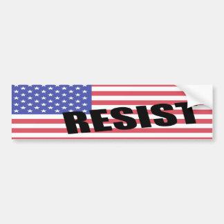 Adesivo De Para-choque Resista a bandeira dos EUA do trunfo