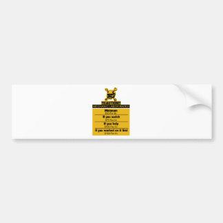 Adesivo De Para-choque Salários do mecânico - cuidado