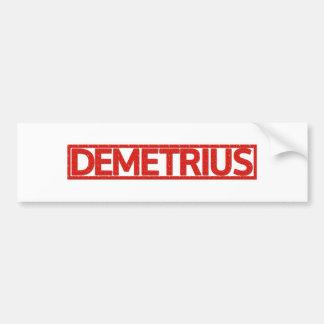 Adesivo De Para-choque Selo de Demetrius