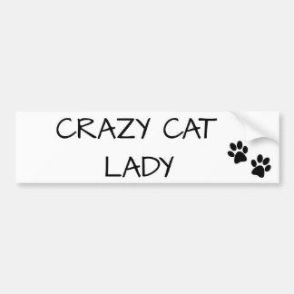 Adesivo De Para-choque Senhora louca do gato
