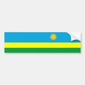 Adesivo De Para-choque símbolo da nação da bandeira de país de rwanda