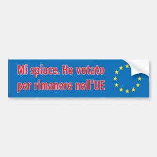 Adesivo De Para-choque Spiace do MI. Ho votato por o nell'UE do rimanere