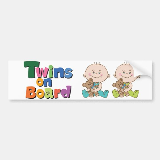 Adesivo De Para-choque Sticker Auto Twins