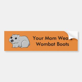 Adesivo De Para-choque Sua mamã veste botas de Wombat
