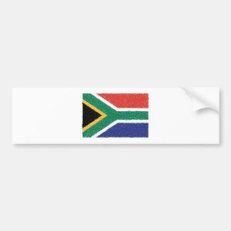Adesivo De Para-choque Tema da bandeira de África do Sul