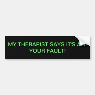 Adesivo De Para-choque Terapia