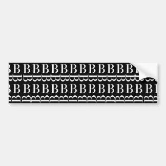 Adesivo De Para-choque Teste padrão inicial do monograma, letra B no