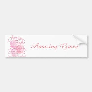Adesivo De Para-choque Tipografia bonita do rosa do rosa da benevolência