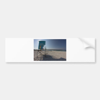 Adesivo De Para-choque Torre do Lifeguard no cais da praia da Cidade do