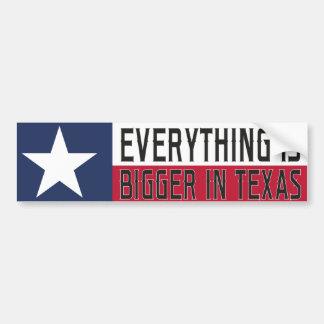Adesivo De Para-choque Tudo é mais grande em Texas