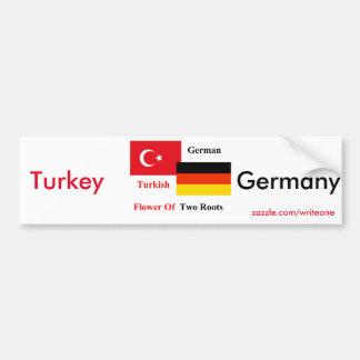 Adesivo De Para-choque Turco-alemão