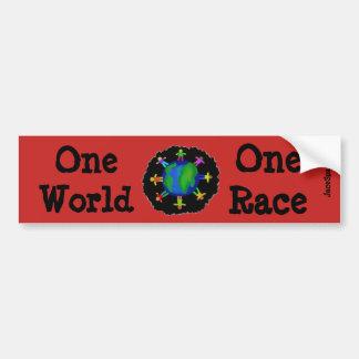 Adesivo De Para-choque Um mundo, uma raça