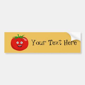 Adesivo De Para-choque Um tomate vermelho muito feliz